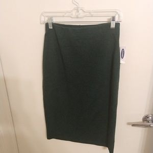 NWT Old Navy stretch pencil skirt green size small